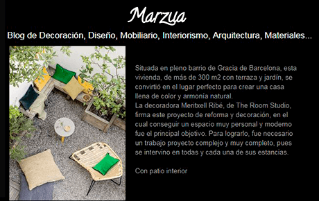 Blog Marzua | The Room Studio